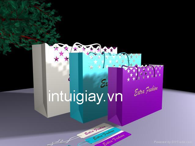 Bộ sưu tập túi giấy cho shop thời trang