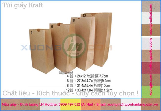 Túi giấy krarf đựng bánh