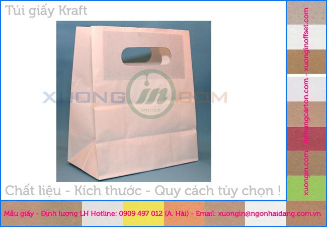 Các mẫu túi giấy kraft không in bảo vệ môi trường