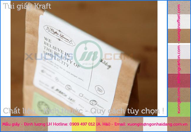 In túi giấy đựng giấy kiểm tra